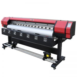 Stampante digitale eco solvente 1,8m doppia testina di stampa DX5 WER-ES1901