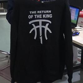 Esempio di stampa maglione nero con t-shirt A2 WER-D4880T