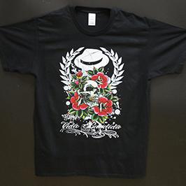 Esempio di stampa di t-shirt nera con stampante tessile digitale A1 WER-EP6090T