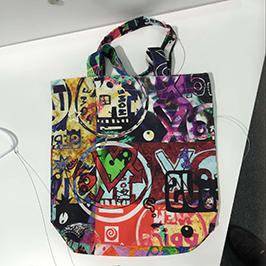 Campione di stampa sacchetto non tessuto con stampante tessile digitale A1 WER-EP6090T