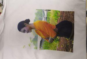 Campione di stampa magliette per cliente Burma dalla stampante WER-EP6090T